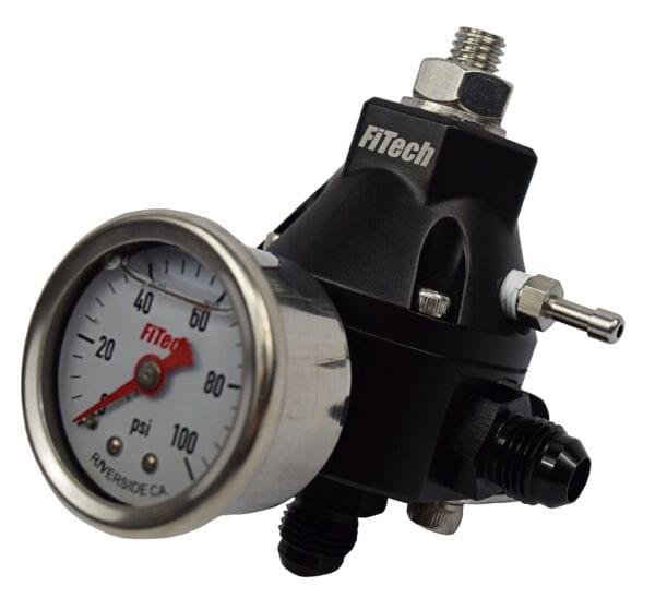 Fuel Pressure Regulator with Single or Dual Outputs and Gauge