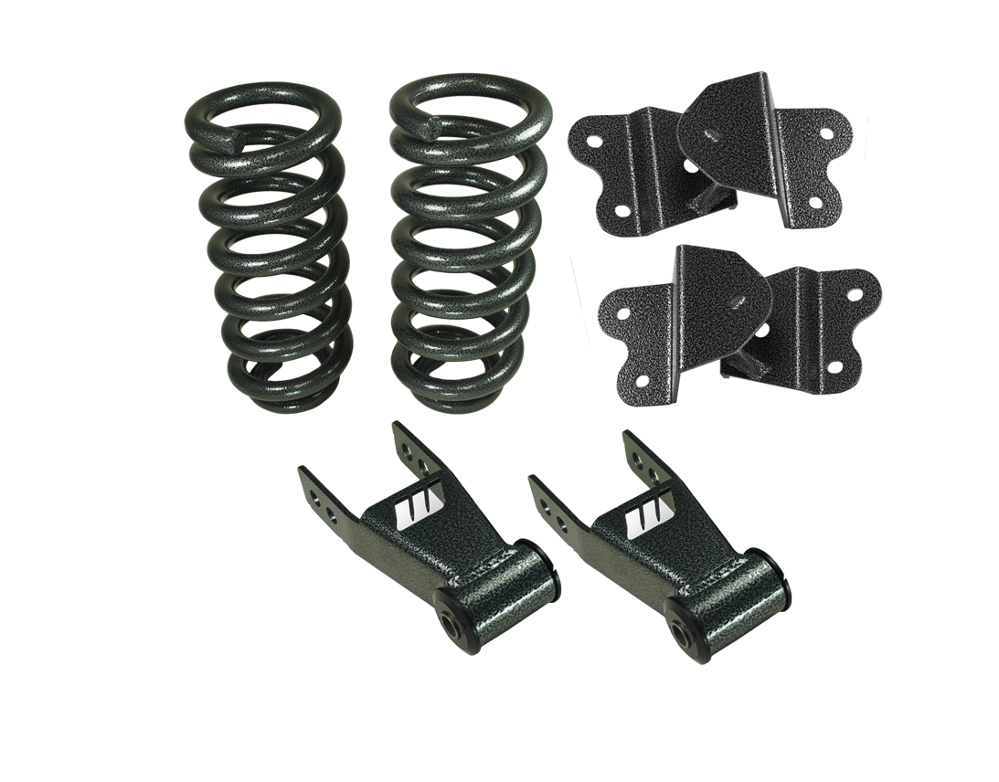 """1988-98 Chevy and GMC C1500 Lowering Kit, 2"""" Front, 4"""" Rear, Economy Type"""
