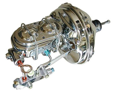 1957-64 Ford F100 Truck Power Brake Booster Kit - Chrome