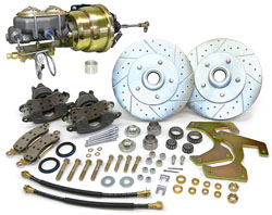"""1955-59 Chevy Truck and GMC Truck Front Power Disc Brake Conversion Kit, 5 x 4.75"""" Bolt Pattern"""