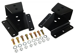"""1973-91 Chevy and GMC C30 Truck Rear Leaf Spring Hanger Kit, 1"""" - 2"""" Drop"""