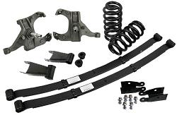 "1973-87 Chevy / GMC C10 Suburban / Blazer / Jimmy Deluxe Lowering Kit w/ Reg. Duty (52"") Leaf Springs Kit"