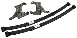 "1981-87 Chevy/GMC C10 Lowering Kit - 2.5"" Front/4"" Rear, 1"" Rotor, 52"" Leaf Spring"