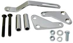 Power Steering Pump Bracket Kit Big Block Chevy, Chrome