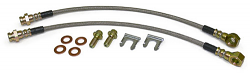 Disc Brake Hose Set, Rear, Stainless Steel