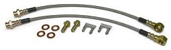 Disc Brake Hose Set, Rear, Stainless Steel