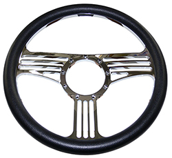 Banjo Style Billet Steering Wheel with Black Grip