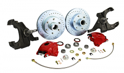 60-62 Chevy C10 Truck, Disc Brake Conversion Kit, 6 Lug, Stock or Drop Spindle.