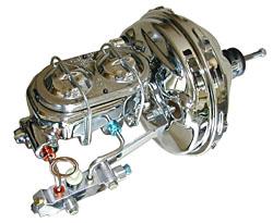 1955-57 Chevy Car Power Brake Booster Kit, Chrome